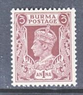 BRITISH  B URMA  22   ** - Burma (...-1947)