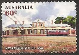 AUSTRALIA - DIECUT - USED 2013 60c Historical Railway Stations - Hay, New South Wales - 2010-... Elizabeth II
