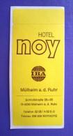 HOTEL PENSION NO NAME NOY MULHEIM GERMANY DEUTSCHLAND ALLEMAGNE STICKER LUGGAGE LABEL ETIQUETTE AUFKLEBER BERLIN - Etiketten Van Hotels