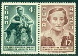 """-Cuba-1957-""""Airmail""""  MH (*)"""