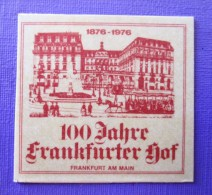 HOTEL FRANKFURT FRANKFURTER GERMANY DEUTSCHLAND ALLEMAGNE STICKER MINI DECAL LUGGAGE LABEL ETIQUETTE AUFKLEBER BERLIN - Hotel Labels