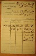 Belgique : Engis - Société Anonyme De La Nouvelle Montagne - Avis D'expédition Datant De 1901 - Pli Central - (n°3077) - Engis