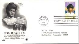 US FDC #2442 Wells,  PCS 1990