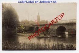 CONFLANS En JARNISY-Lavoir-Barque-Carte Photo Allemande-Guerre14-18-1WK-Militaria-Frankreich-France-54- - Briey