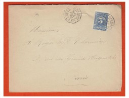### POSTE MARITIME ### LETTRE DE COLOMBIE POUR PARIS 1907 ### LIGNE A DE COLON A ST NAZAIRE - Poststempel (Briefe)