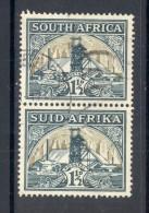 SOUTH AFRICA, 1933 1½d (with Hyphen), Se-tenant Pair, VFU - Gebruikt