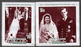Aitutaki 1972 Royal Silver Wedding Set Of 2, MNH (A) - Aitutaki