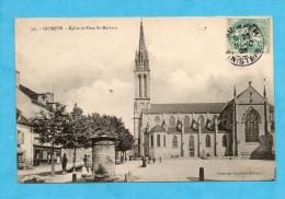 Quimper. - Église Et Place Saint-Mathieu. - ( Finistère ). - Quimper