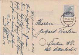 All Bes Arbeiter Mi 947 Landpost Stempel Weißenbronn ü Schwabach Kte 1948 - Gemeinschaftsausgaben