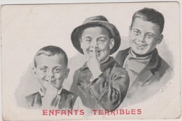 Groupe  D '   , Enfant   Terribles     ( éditée  E.  Chasles  A  Flers) - Gruppen Von Kindern Und Familien