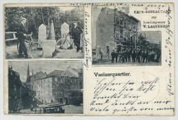 (Aachen) Vaalserquartier. Café Restaurant Zur Landesgrenze, V. Lausberg. 1900. - Aachen