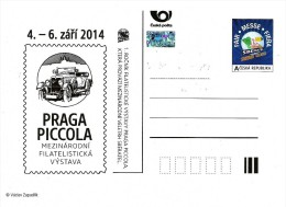 Czech Republic - 2014 - International Philatelic Exhibition Praga Piccola - Postcard With Original Stamp And Hologram - Cartes Postales