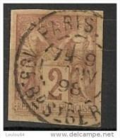 Timbres - France (ex-colonies Et Protectorats) - Emissions Générale - Sages - 2 C - N° 38  - Oblitéré Paris St Germain -