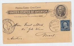 USA/Austria UPRATED POSTAL CARD 1898