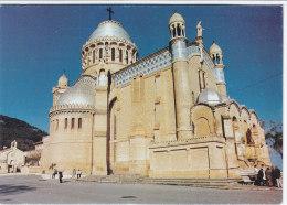 CP ALGERIE ALGER  LA BASILIQUE SOUVENIR OPERATION CIMETIERES FLEURIS 1989 - Algerien