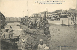 44  SAINT  NAZAIRE    SOUVENIR  DE   LA  SEMAINE  MARITIME  AOUT  1908    LE  TORPILLEUR  ACCOMPAGNANT  LES  REGATES - Saint Nazaire