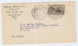Mexico/USA VIA HABANA AIRMAIL COVER 1934