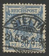 Germany, 20 Pf. 1889, Sc # 49, Mi # 48, Used, Stettin. - Germany