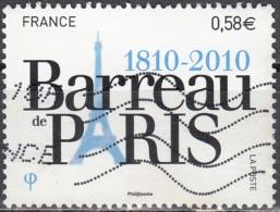 France 2010 Yvert 4512 O Cote (2012) 0.60 Euro 200 Ans Barreau De Paris - France