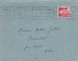 -> Lettre Avec Flamme RBV 1949 : LES ECOLES DE L´ARMEE DE L´AIR VOUS DONNENT UN METIER - Marcophilie (Lettres)
