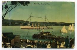Australia Tasmania Hobart Regatta With British Royal Navy Cruiser McV And L Series No.75 - Hobart