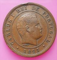 Portugal 10 Reis 1891 D. Carlos I - Portugal