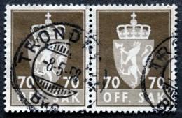 Norway  1956  Minr.79x ( O) TRONDHEIM 8-5-1958 ( Lot L 760) - Service