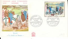 FRANCE 1965: FDC  LES TRES RICHES HEURES DU DUC  DE BERRY  CN 2790 - 1960-1969