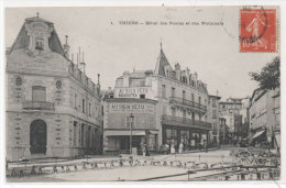 THIERS - Hotel Des Postes Et Rue Nationale   (73656) - Thiers