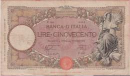 ITALIE - 500 Lires Décret 26 06 1939 - P 61 - [ 1] …-1946 : Reino