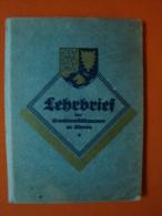 Lehrbrief Der Handwerkskammer Zu Altona, Als Dreher, Von 1934 ! - Historische Dokumente