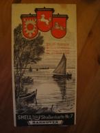 Shell Reisedienst Strassenkarte Nr. 7, Hannover, Ca. 1930 !! - Strassenkarten