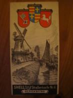 Shell Reisedienst Strassenkarte Nr. 6, Oldenburg, Ca. 1930 !! - Strassenkarten