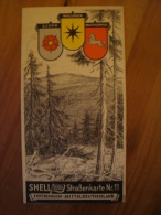 Shell Reisedienst Strassenkarte Nr. 11, Thüringen - Mitteldeutschland, Ca. 1930 !! - Strassenkarten