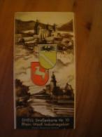Shell Reisedienst Strassenkarte Nr. 10, Rgein.-Westf. Industriegebiet Ca. 1930 !! - Strassenkarten