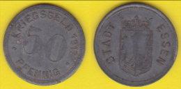Germania Notgeld  50 Pfenning 1917 Stadt Essen - Monetari/ Di Necessità