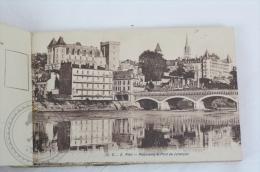 Old France Postcard Album/ Folder -Pau, Le Château D´Henri IV - 20 Cartes Postales Detachables - Edited Carrache - Pau