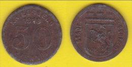 Germania Notgeld  50 Kriegsgeld Pfenning  1918  Stadt Elberfeld - Monetari/ Di Necessità