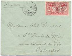 1914 NOUVELLES HEBRIDES LETTRE POUR LA FRANCE AFFRANCHIE 10c OBLITEREE PORT-VILA 31 OCT 14 - Brieven En Documenten