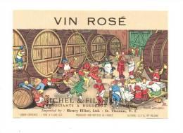 Etiquette De Vin De Table  Rosé    -   Illustrateur  Marcel Jeanjean  -  Sichel à Bordeaux (33) - Etiquettes