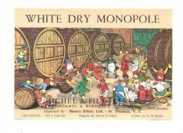 Etiquette De Vin  De Table  -  White Dry Monopole    -   Illustrateur  Marcel Jeanjean - Sichel à Bordeaux (33) - Etiquettes