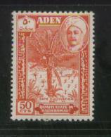 QUAITI STATE IN HADHRAMAUT (ADEN SOUTH ARABIA) 1955 CRAFTSMEN DEFINITIVES 50C DATE CULTIVATION NHM - Aden (1854-1963)