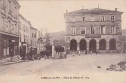 Bains Les Bains  - Place De L'hotel De Ville  ( Cachet Daguin Au Dos )  - Scan Recto-verso - Bains Les Bains
