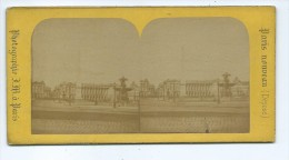 Vues Stéréoscopiques Photo Sur Carton - Paris Place De La Concorde - Photos Stéréoscopiques