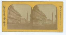 Vues Stéréoscopiques Photo Sur Carton - Paris La Colonne Vendome - Photos Stéréoscopiques