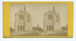 Vues Stéréoscopiques Photo Sur Carton - Paris Eglise Saint-Augustin - Stereoscopic