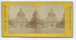 Vues Stéréoscopiques Photo Sur Carton - Paris La Sorbonne - Photos Stéréoscopiques