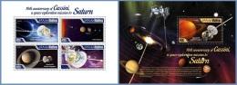 mld14710ab Maldives 2014 Space Cassini 2 s/s