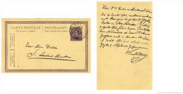 Belgium Albert I Postcard With Cancellation Hillegem 1922, Marriage Announcement De Geyter Goossens - Boda
