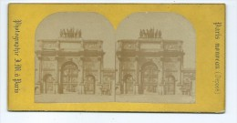 Vues Stéréoscopiques Photo Sur Carton - Paris Arc Du Carrousel - Photos Stéréoscopiques